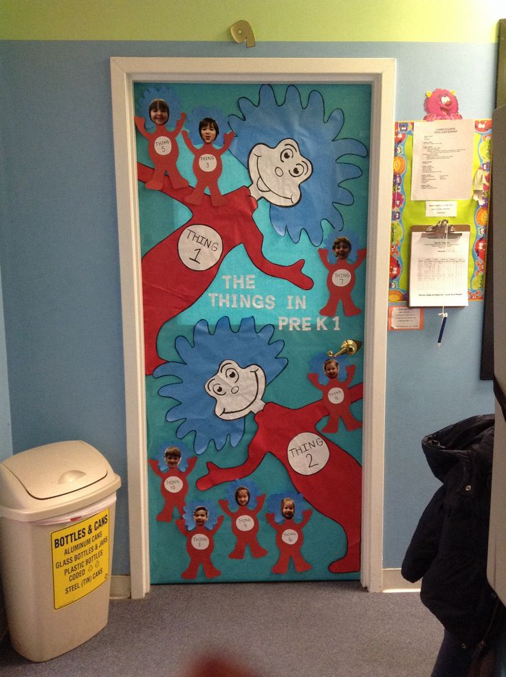 Thing 1 thing 2 classroom door dr suess