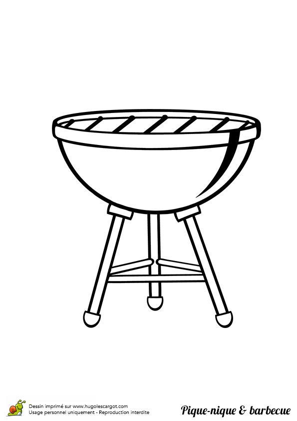 Coloriage Pique Nique Barbecue En Famille Sur