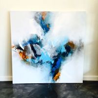Blue Abstract Art Canvas