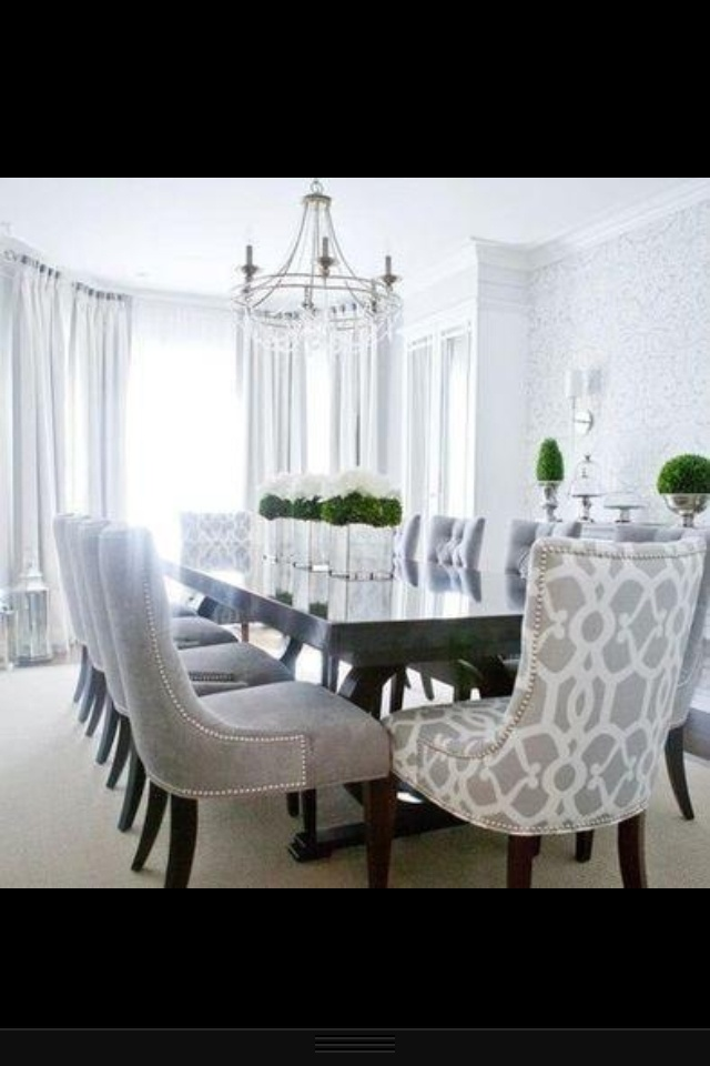 Gorgeous Dining Room Luxury calm bright Obsessed with