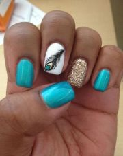 teal nail design ideas