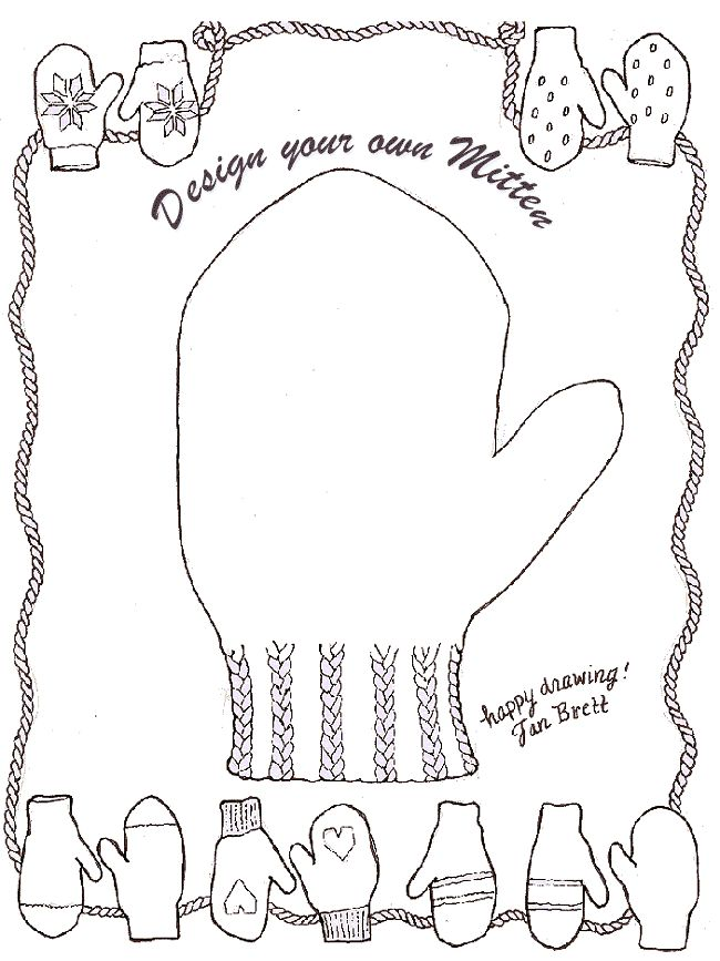 Design your own Mitten. Jan Brett. Keep clicking image to
