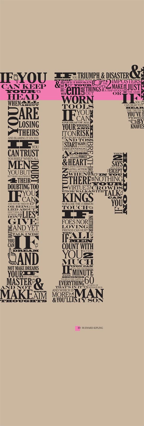 Rudyard If Kipling Poster