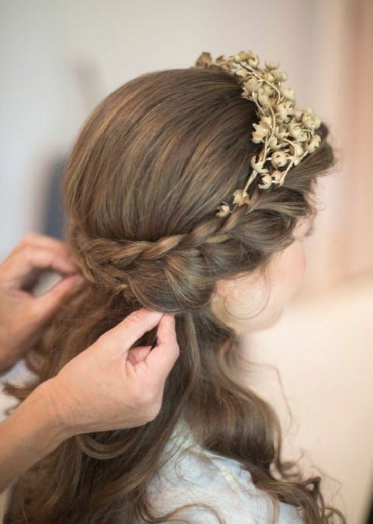 Die Besten 25 Kommunion Frisuren Ideen Auf Pinterest