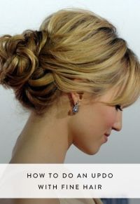 1000+ ideas about Fine Hair Updo on Pinterest | Wedding ...