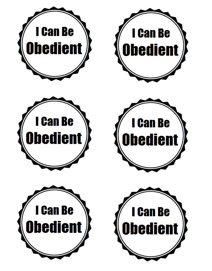 Primary 1 Sunbeams Lesson 28. I can be obedient. Can be