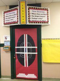 Classroom movie theater door idea | Class Door Decorations ...