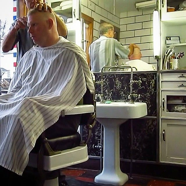 old school barber chair linen tufted burt's shop   pinterest and haircuts