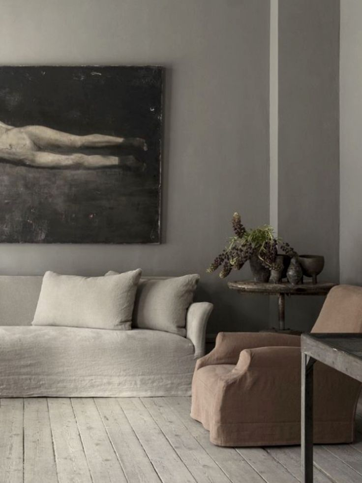 white living room furniture decorating ideas 2 wood burner linen slip covers and raw timber floor boards | #wabisabi ...