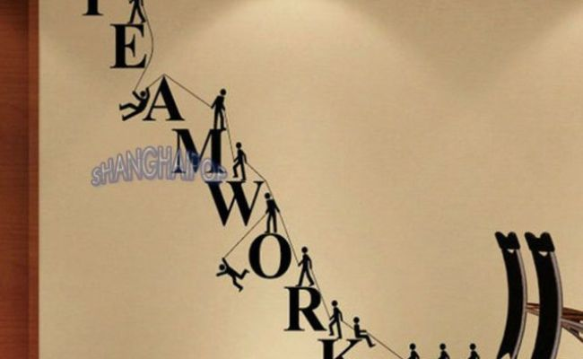 Teamwork Removable Letters Wall Sticker Office Decor