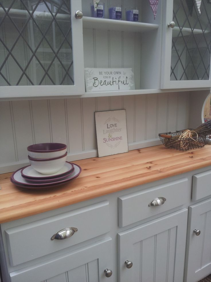 Painted welsh dresser Farrow and Ball Dimpse Reloved by