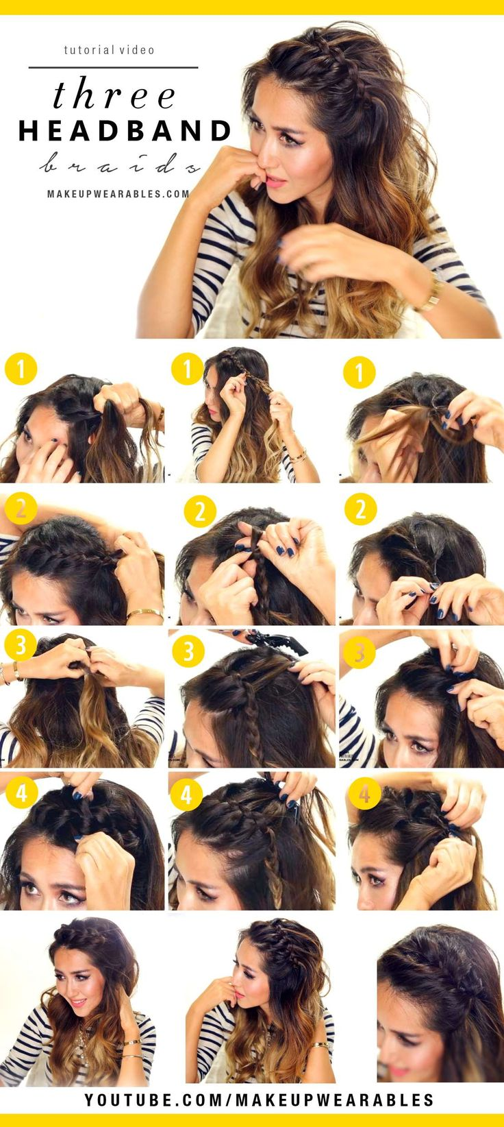 3 Easy Headband Braids – Cute half-up hairstyles for everyday!