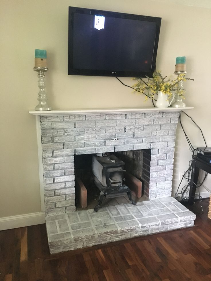 25 best ideas about White washed fireplace on Pinterest  Brick fireplace mantles Fire place