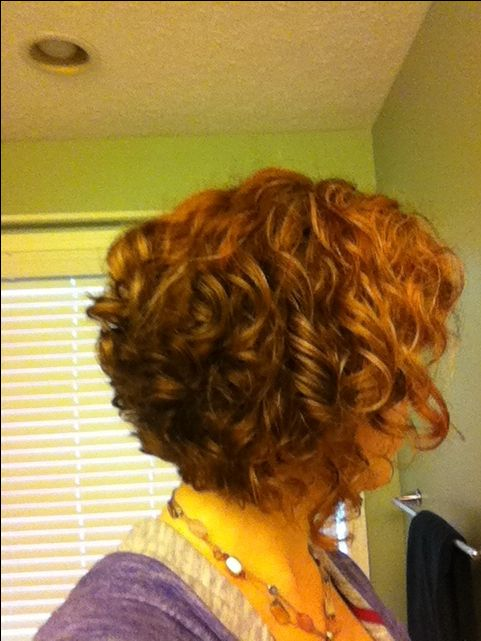 Curly stacked bob Red  Its all about the hair  Pinterest  Bobs Next style and My hair