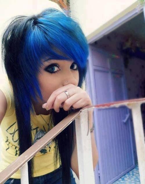 Emita Pelo Azul Emo Pinterest