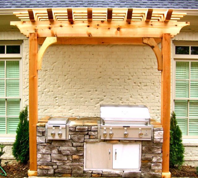 13 Best Images About Grill Area Pergola On Pinterest
