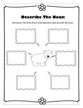 An adjective, Adjectives activities and Pictures on Pinterest