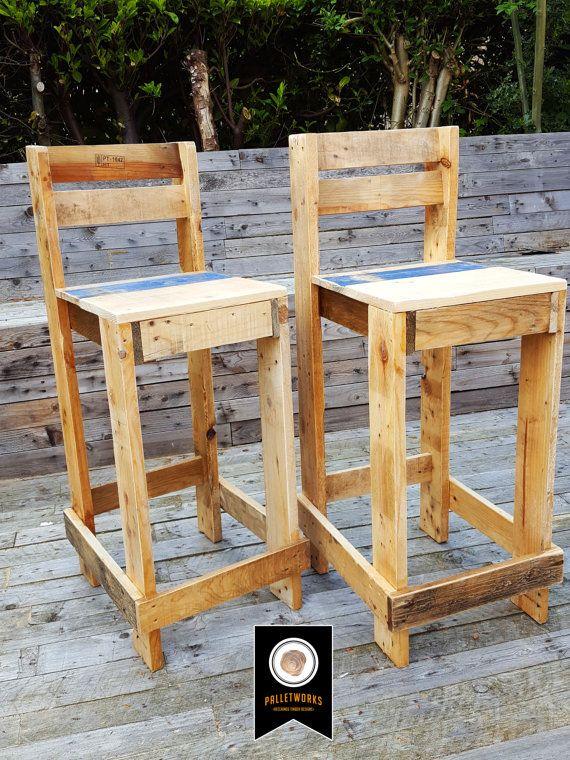 25+ best ideas about Pallet bar stools on Pinterest