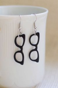 Fun nerdy cute pair of black glasses earrings/optometrist ...