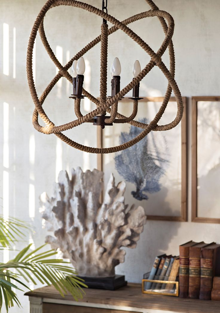 Entwine Rope Chandelier Coastal Classic Home Decor Onceit Dining Pinterest Light