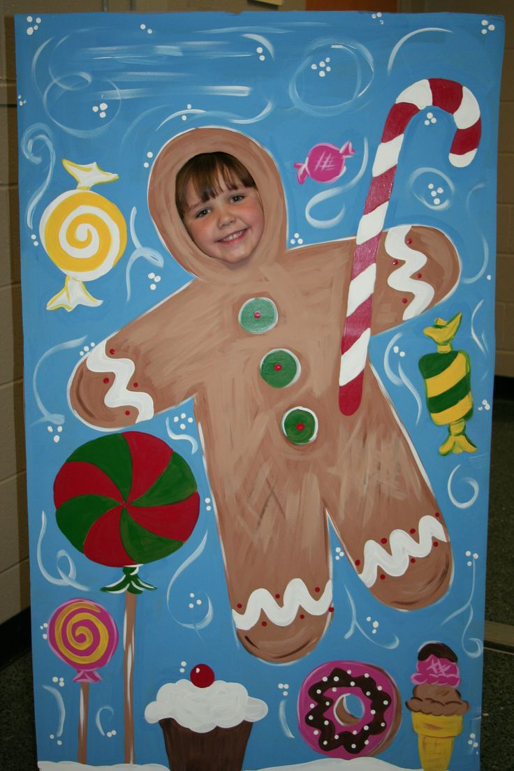 Christmas Gingerbread Man Standee Insert Your Face And