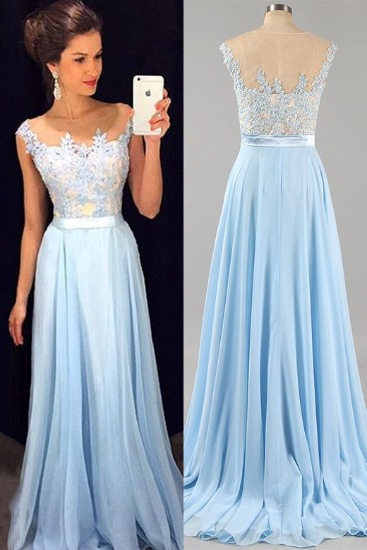 25 best ideas about Baby blue prom dresses on Pinterest  Baby blue dresses Ball dresses and