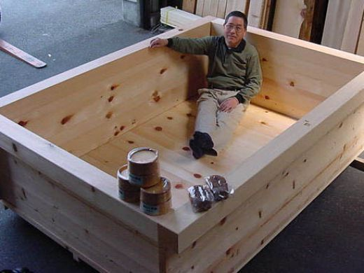 original hinoki wood japanese bath tubs for soaking and aromatherapy  Japanese bath Baby girls