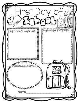 Free First Day Of School Worksheets For Fourth Grade