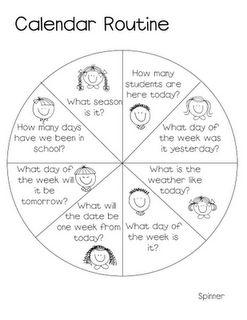 25+ best ideas about Kindergarten Calendar Activities on