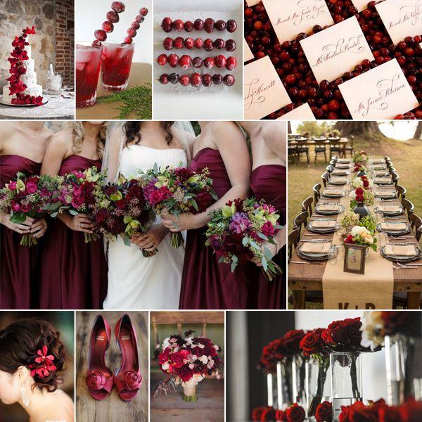 9 Herbsthochzeit Cranberry Rot Rustikal Braun Blumen Dekoration Ideen Trendy Hochzeitsfarben fr