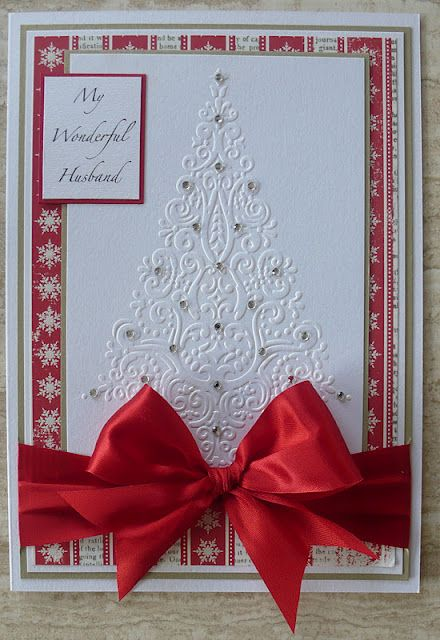 Pretty Good Use Of Xmas Tree Embossing Folder Cards