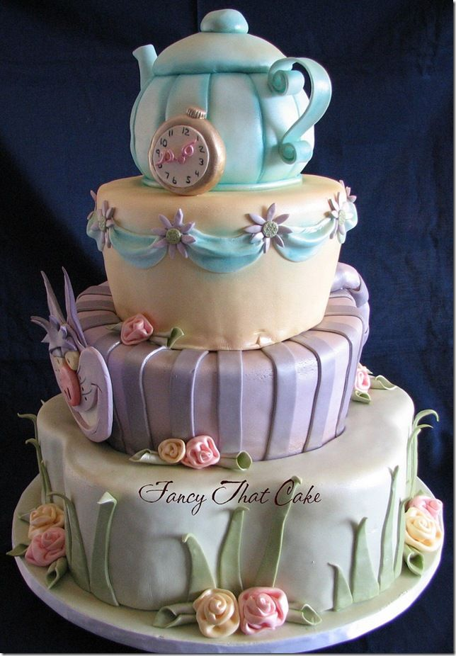 211 Best Images About Cakes Alice In Wonderland On