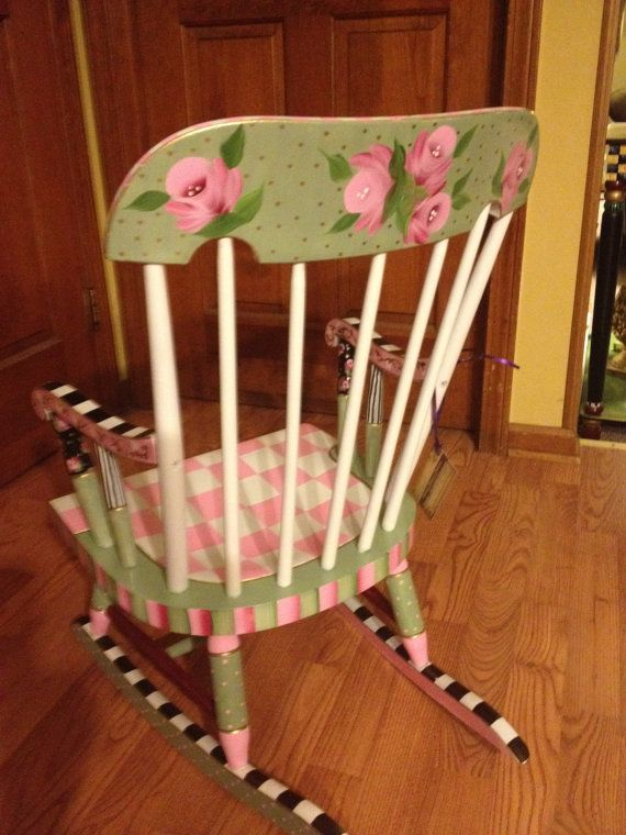 best rocking chairs for nursery ikea stacking 229 images about painted furniture on pinterest | chairs, hand ...