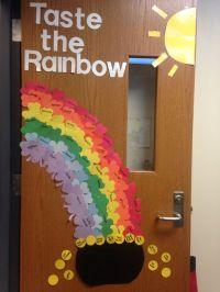Spring healthy eating nurses office door decoration ...