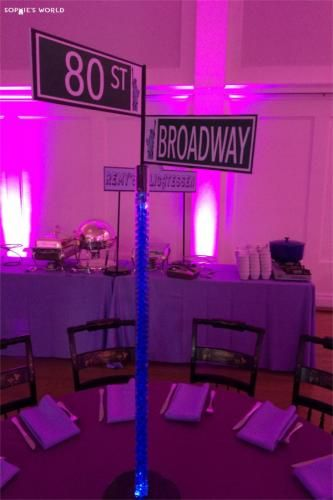 NY Party DIY street signs centerpiecessophieworldcom