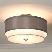 drum shade ceiling light   Roselawnlutheran