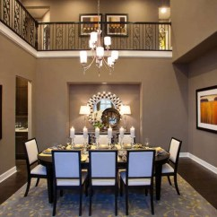 Z Gallerie Chairs Real Leather Tub Chair Brown Dark Floor And Gray Walls In Dining Room. Would Work Well With Chestnut Wood Tables/chairs ...