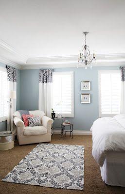 Master Bedroom Wall Color Benjamin Moore Smoke Ds Tutorial