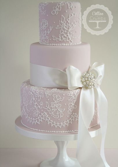 lace wedding cakes weddings pink and silver