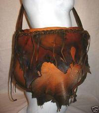 Artisan Made Leather Handbag Deerskin Purse Distressed ...