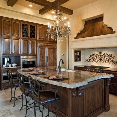 Mediterranean Kitchen Design Sherwin Williams SW6106 Kilim Beige Color Family Warm Neutrals
