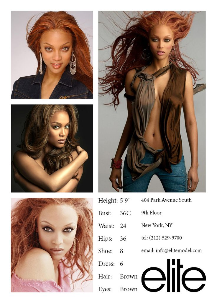Model Comp Card example 19   Pinteres