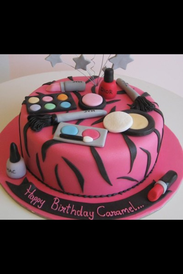 Cute makeup cake  Food  Pinterest  Make up cake Cakes and Love this