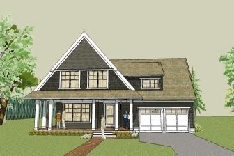 Simple Cottage House Plan With Wrap Around Porch And Open Floor