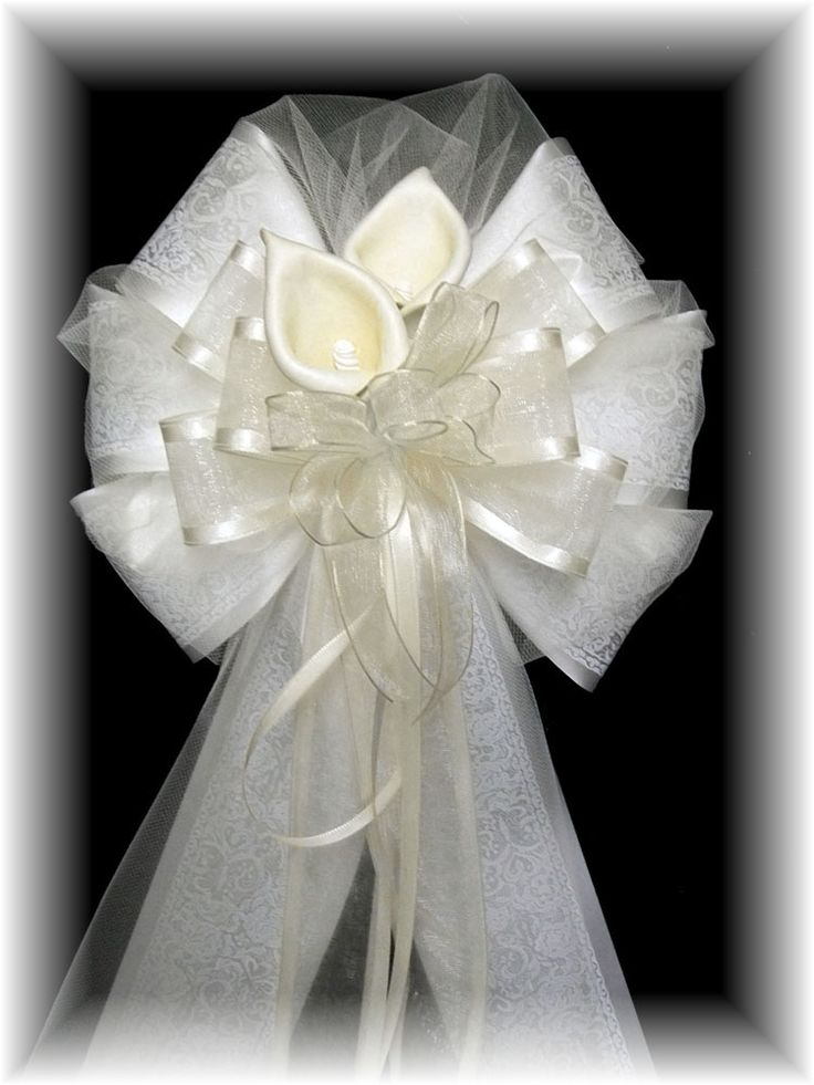 17 best images about Lizs Wedding Pew Bows on Pinterest