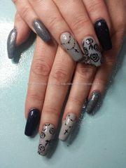 ideas gray nail