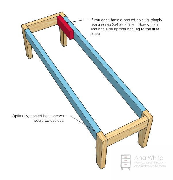 Would Be Easy To Adjust All Wood Bench Diy Upholstered