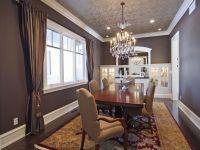 Love the textured wallpaper ceiling | Dine Me | Pinterest ...