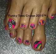 ideas neon toe nails