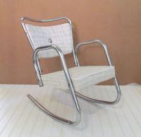 Vintage Childrens Rocking Chair Squiggle Plaid - Retro ...